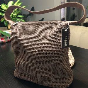 The SAK shoulder bag.  TAUPE COLOR